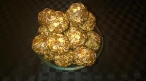 Apricot, coconut, chia balls