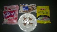 Chocolate Marshmallow Spider Ingredients.