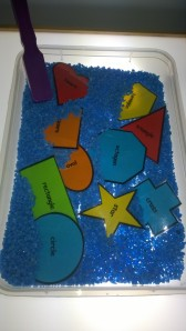 We also used our magnetic shapes.