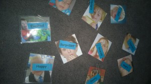Then we matched the words to the corresponding  pictures to more aware of emotional intelligence and other's feelings.