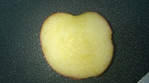 Take the middle sized piece that looks like a love heart with a flat bottom.